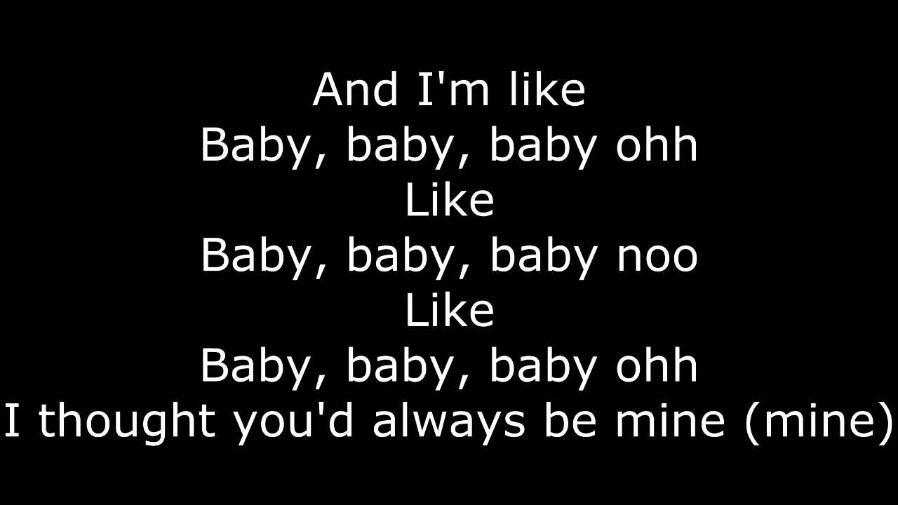 KARAOKE Justin Bieber - Baby ft. Ludacris | LYRICS - YouTube