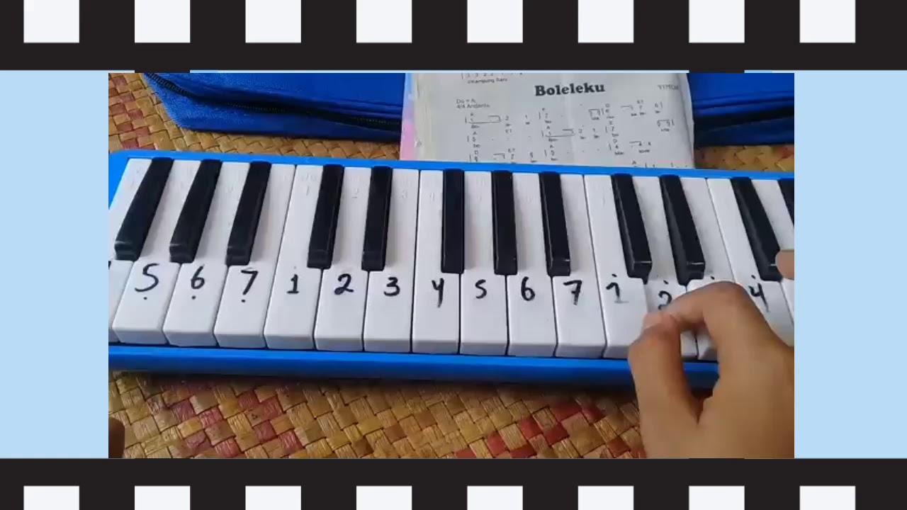Ini dia Not Pianika Lagu Anak Kambing Saya - YouTube