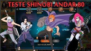 [Teste Shinobi] Naruto Online | Andar 80 | Nivel 65 | Com Olho da Chamas