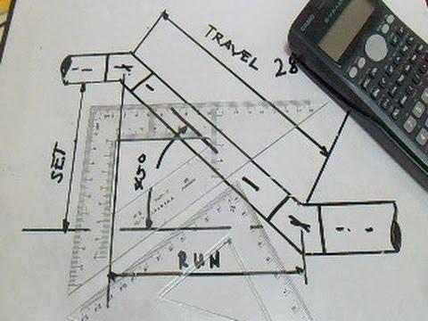 Piping-Lengths of Sides,Set,Run,Travel,Angle and Formula
