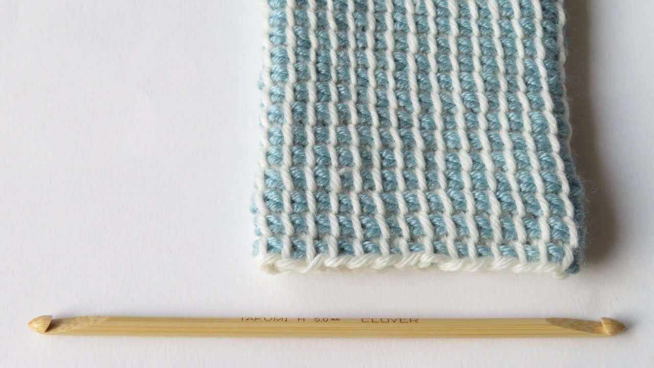 Double Ended Crochet Hook Tunisian Crochet In The Round Youtube