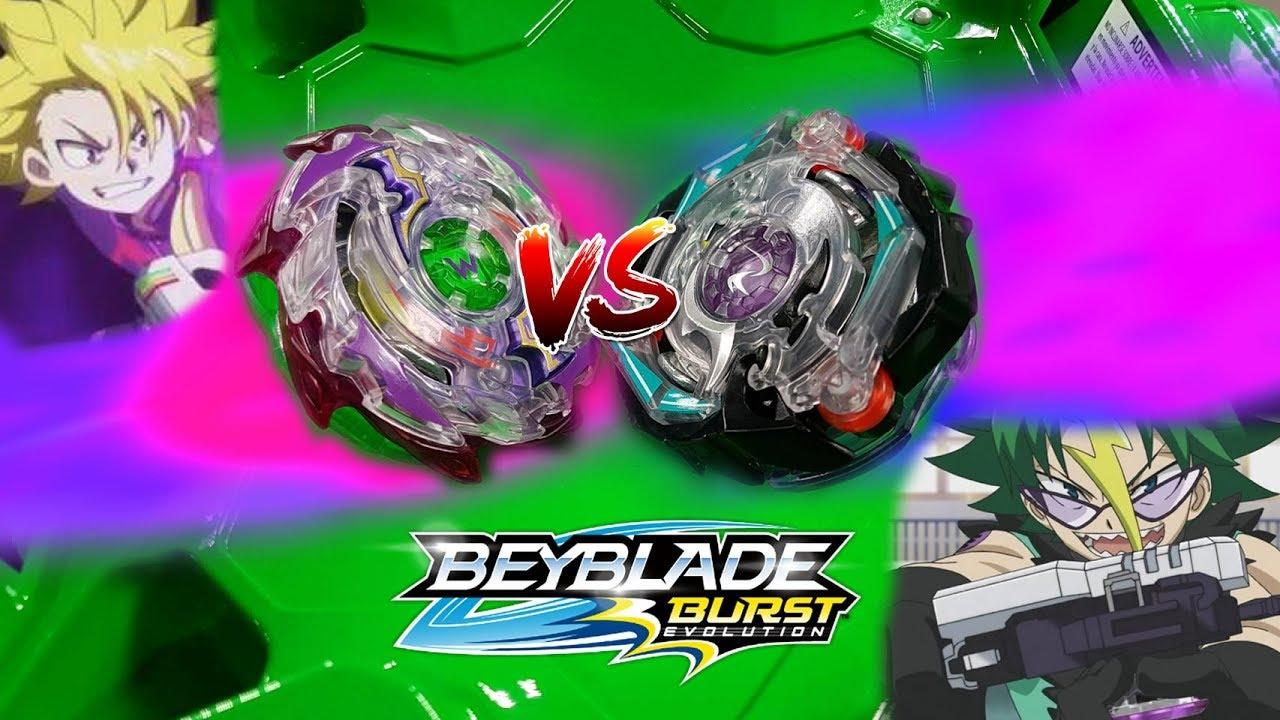 Victorious Wyvron W3 Vs Kinetic Satomb S3 Beyblade Burst Evolution