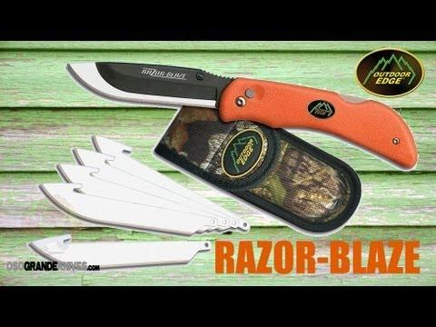 Outdoor Edge Razor-Blaze Folding Hunting Knife   OsoGrandeKnives
