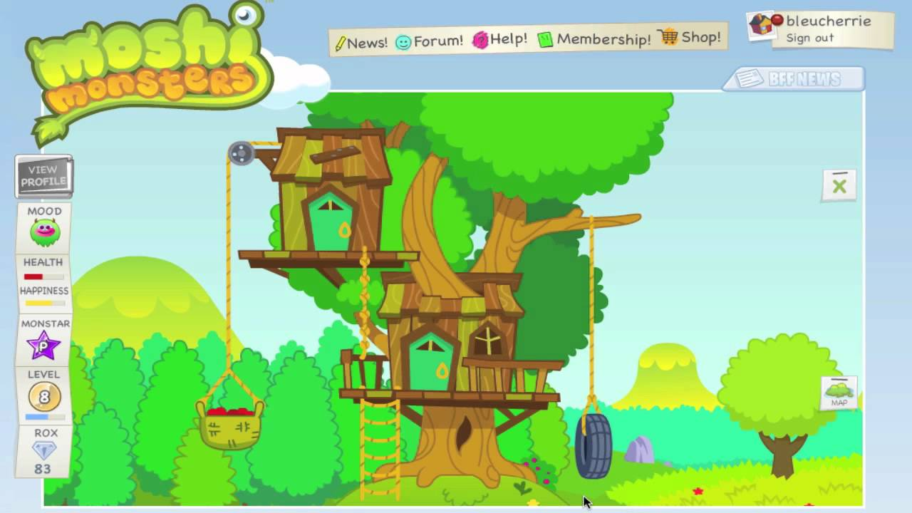 Getting A Treehouse Home Moshi Monsters Youtube