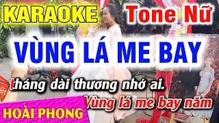 Karaoke Vùng Lá Me Bay Tone Nữ Nhạc Sống | Hoài Phong Organ