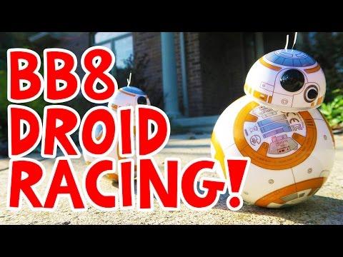 BB8 Sphero Droid Racing!! Star Wars The Force Awakens BEST TOY!!