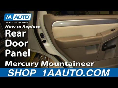 How To Replace Rear Door Panel 02 05 Mercury Mountaineer Youtube