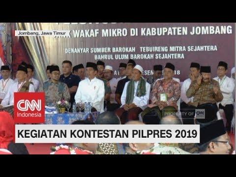 Kegiatan Kontestan Pilpres 2019, Jokowi & Sandiaga Uno