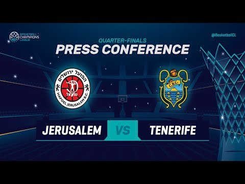 Hapoel Jerusalem v Iberostar Tenerife - Press Conference - Basketball Champions League 2018