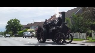 CRHnews - Traction engine Black Bess mounts pavement in Chelmsford