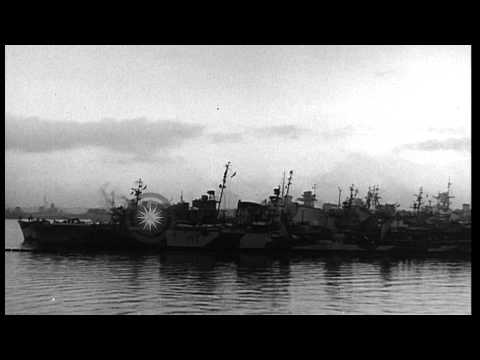 Italian escort vessels and  corvettes anchored at a harbor in Italy. HD Stock Footage