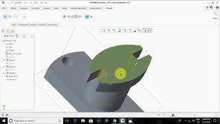 Creo Simple 3D Part Drawing  Design -- Tamil