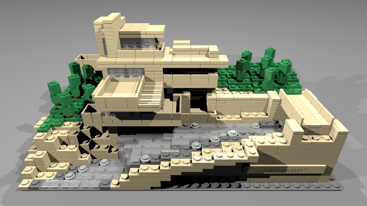 21005 lego architecture fallingwater youtube - Lego falling waters ...