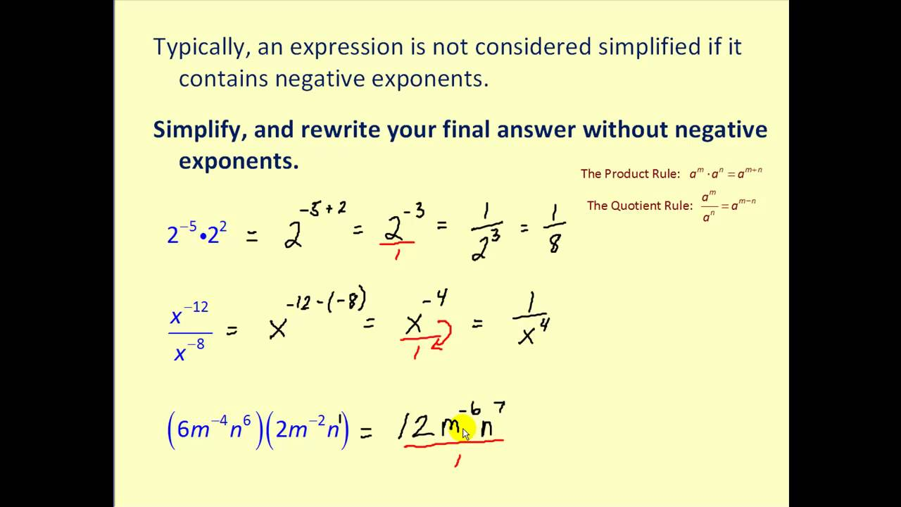 Exponents, Exponential Notation, and Scientific Notation