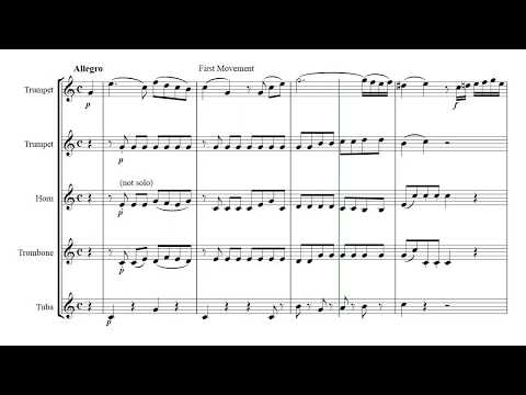 Horn Concerto No3 (Mozart) 1st movement - brass quintet