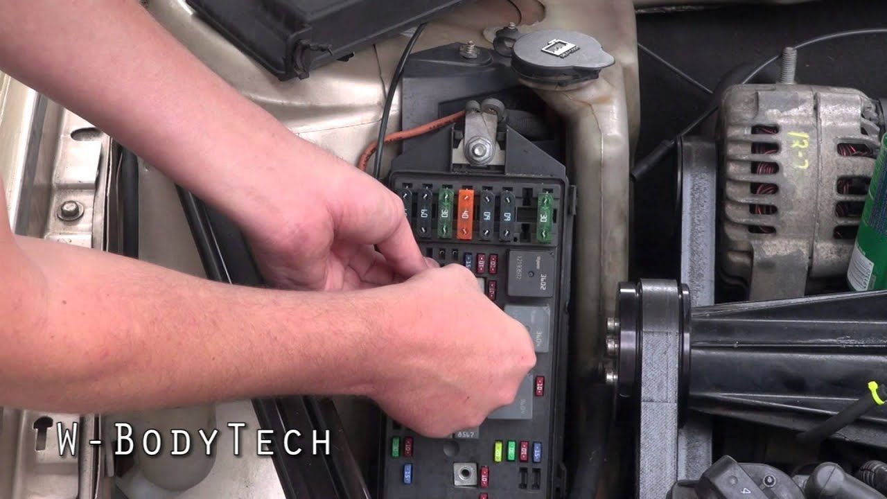 93 Chevy 1500 Starter Wiring Diagram Truck Fuse Box W-bodytech - Howto Bypass The Fuelpump Relay On Any 1997-2008 Gm W-body Vehicle Youtube