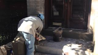 Innovation Construction- Limestone Stoop Restoration In Cobble Hill Brooklyn N.y