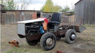 Мини-трактор 4х4 с ДВС ВАЗ-08 часть-1