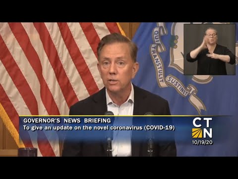 Governor Ned Lamont's latest news briefing.