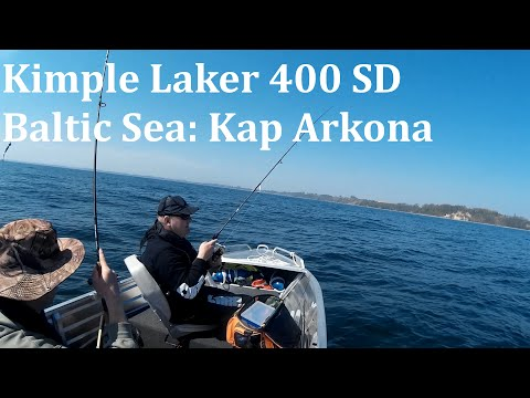 Aluminium Boat Kimple Laker 400 mit 20 HP Suzuki Außenborder auf der Ostsee nahe Kap Arkona