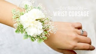 Repeat youtube video DIY Ribbon Wrist Corsage | Simple and Easy