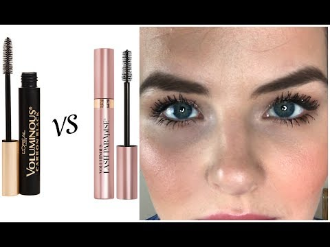 0868a16d55c L'oreal Voluminous Lash Paradise Vs Original Test + hourly updates - YouTube
