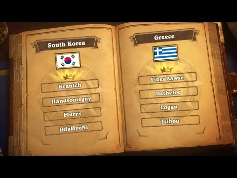 South Korea vs Greece - Group D - Match 1 - Hearthstone Global Games