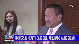 Universal health care bill, aprubado na ng bicam