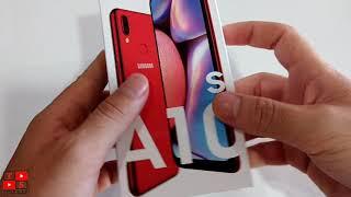 Samsung A10s tirando da caixa