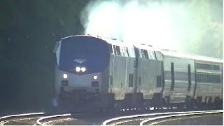 The Amtrak Crescent #20 With Cool Crew and Horn! Mableton,Ga 06-04-2015©