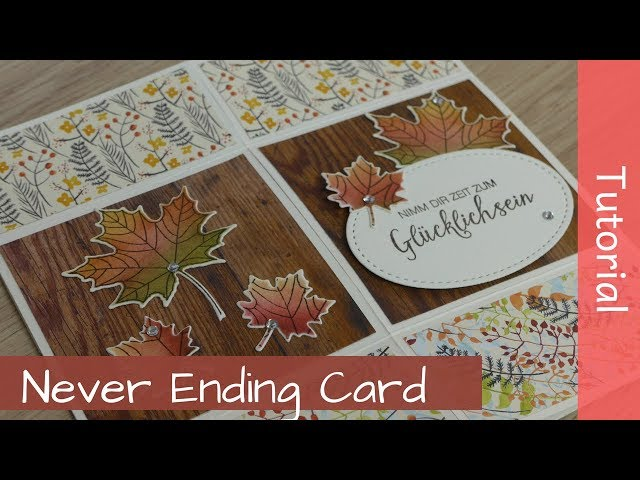 Never Ending Card - Endloskarte - Tutorial - Stampin' Up! Demonstrator - YouTube