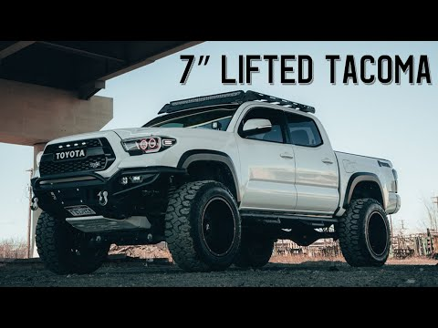 "7"" BDS Lifted Toyota Tacoma TRD Off-Road On 35x12.5x20 