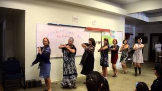 Internation day at adult school. Russian song