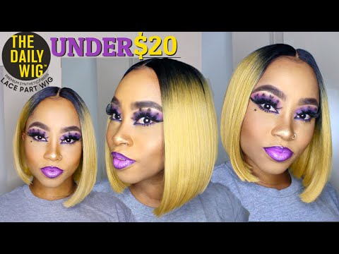 cute-everyday-look-&-it's-under-$20!🙌-outre-synthetic-hair-wig-lace-part-wig---zenya-wig-review