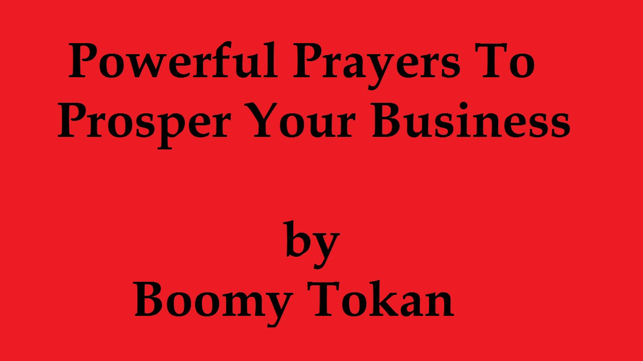 Ful Prayers To Prosper Your Business Want 2