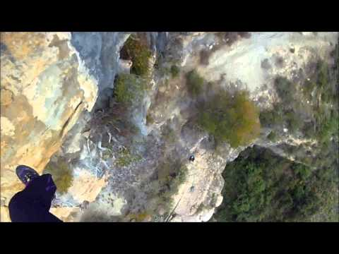 Torrent del gat menjat  Rappel de 40 m volat