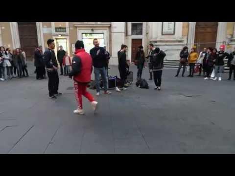 Hip Hop Music Dance Street Artists in Rome - Acrobatic Dancing