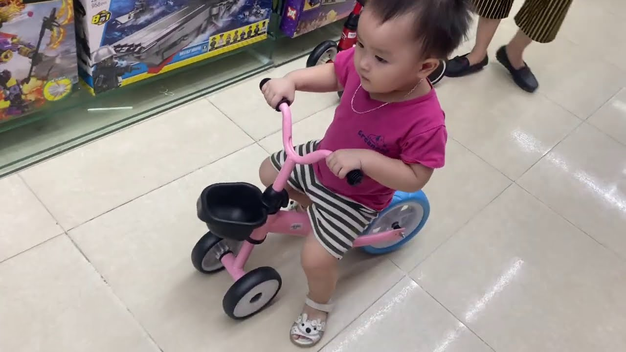 Baby cute with the bike for kids