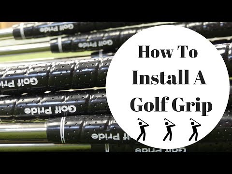 How To Install A Golf Grip, Both Of Them , Golf Club Repair