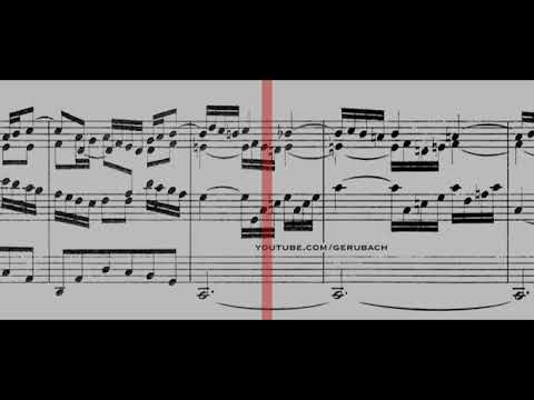 BWV 534 - Prelude & Fugue in F Minor (Scrolling)