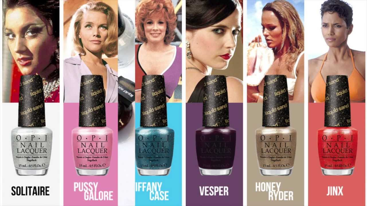 OPI Bond Girls Nail Polish Collection - Swatched - YouTube