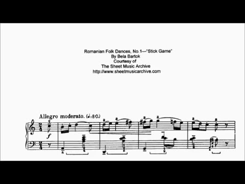 Bartok Sz.56 Romanian Folk Dances (Complete)