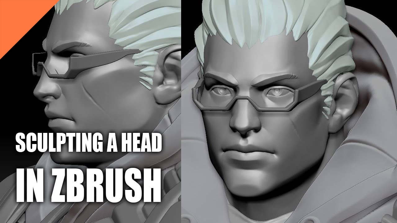 Download Sculpting a Head From Scratch in ZBrush