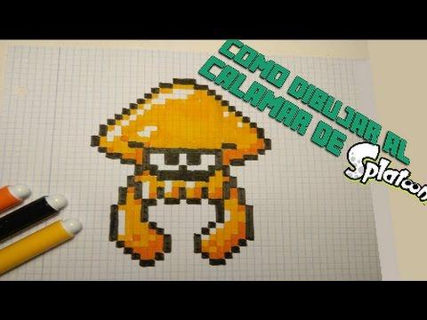 Calamar Splatoon Pixel Art Diseño Hama Beads