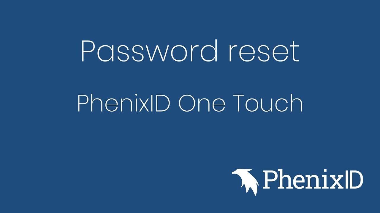 Password Self Service - PhenixIDPhenixID