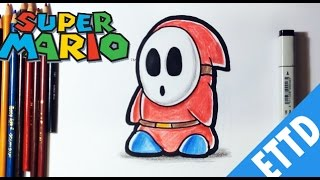 How to Draw Shy Guy From Super Mario bros - Easy Things To Draw