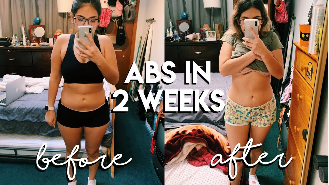 abs in 2 weeks? I tried chloe tings ab workouts *i am so ...