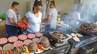 Top Street Food from the Balkans, Best Meat Roasted on Huge Grills
