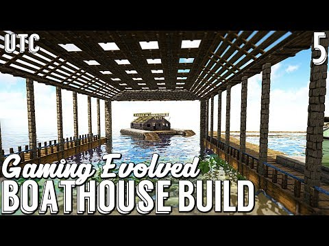 Ark Boathouse Build :: Structures Plus (S+) Boat House Design :: Gaming Evolved Ark w/ UTC :: Ep. 5