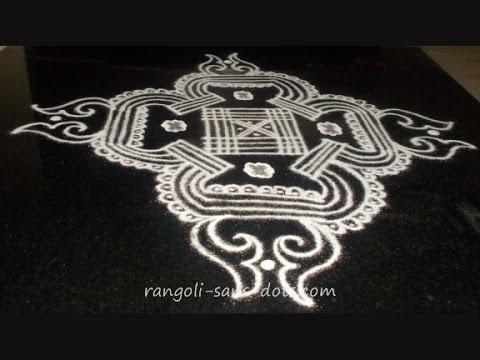 My kolam for Margazhi Friday | padi kolam designs theme ...